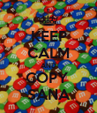KEEP CALM AND COPY  SANA - Personalised Poster large