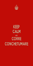 KEEP CALM AND CORRE CONCHETUMARE - Personalised Poster large