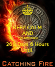 KEEP CALM AND COUNTDOWN 269 Days 6 Hours Until  - Personalised Poster large