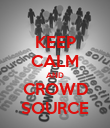 KEEP CALM AND CROWD SOURCE - Personalised Poster large