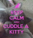 KEEP CALM AND CUDDLE A  KITTY - Personalised Poster large