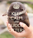 KEEP CALM AND CUDDLE OTTERS - Personalised Poster large
