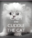 KEEP CALM AND CUDDLE THE CAT - Personalised Poster large