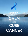 KEEP CALM AND CURE CANCER - Personalised Poster large
