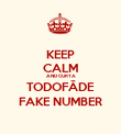 KEEP CALM AND CURTA TODOFÃDE FAKE NUMBER - Personalised Poster large