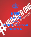 KEEP CALM AND CURTE NOSSA PÁGINA! - Personalised Poster large
