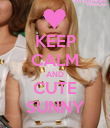 KEEP CALM AND CUTE SUNNY - Personalised Poster large