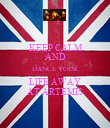 KEEP CALM AND DANCE YOUR LIFE AWAY AT ARTEMIS - Personalised Poster large
