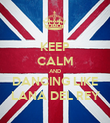KEEP CALM AND DANCING LIKE LANA DEL REY - Personalised Poster large
