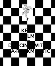 KEEP CALM AND DANCING WITH SKA-ROCKMANTIC - Personalised Poster large