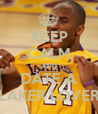 KEEP CALM AND DATE A LAKER LOVER - Personalised Poster large