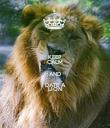 KEEP CALM AND DATE A LION - Personalised Poster large