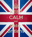 KEEP CALM and  date  britians - Personalised Poster large