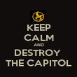 KEEP CALM AND DESTROY  THE CAPITOL - Personalised Poster large
