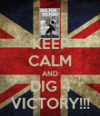 KEEP CALM AND DIG 4 VICTORY!!! - Personalised Poster large