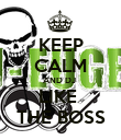 KEEP CALM AND DJ  LIKE  THE BOSS - Personalised Poster large