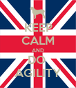 KEEP CALM AND DO  AGILITY - Personalised Poster large