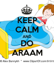 KEEP CALM AND DO ARAAM - Personalised Poster large