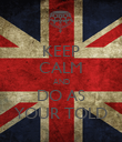KEEP CALM AND DO AS YOUR TOLD - Personalised Poster large