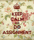 KEEP CALM AND DO ASSIGNMENT - Personalised Poster large