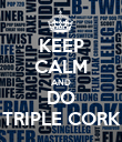 KEEP CALM AND DO TRIPLE CORK - Personalised Poster large