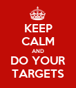 KEEP CALM AND DO YOUR TARGETS - Personalised Poster large