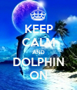 KEEP CALM AND DOLPHIN ON - Personalised Poster large