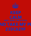 KEEP CALM AND  DON'T BE A FOOL AND TAKE MY PIN 235C629F - Personalised Poster large