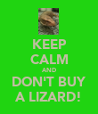 KEEP CALM AND DON'T BUY A LIZARD! - Personalised Poster large