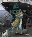 KEEP CALM AND DON'T   GO AWAY - Personalised Poster large