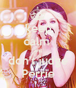 keep calm  and don't judge Perrie - Personalised Poster large