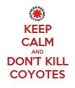 KEEP CALM AND DON'T KILL COYOTES - Personalised Poster large