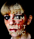 KEEP CALM AND DON`T PANIC - Personalised Poster large
