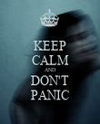 KEEP CALM AND DON'T PANIC - Personalised Poster large
