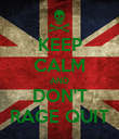 KEEP CALM AND DON'T RAGE QUIT - Personalised Poster large
