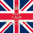 KEEP CALM AND Don't Throw Cues At Dart Boards - Personalised Poster large