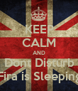 KEEP CALM AND Dont Disturb Fira is Sleeping - Personalised Poster large
