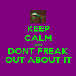 KEEP CALM AND DONT FREAK OUT ABOUT IT - Personalised Poster large