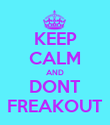 KEEP CALM AND DONT FREAKOUT - Personalised Poster large
