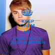 KEEP CALM AND DONT HATE JUSTIN BIEBER - Personalised Poster large
