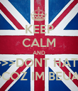 KEEP CALM AND >>>>>>DONT HATE ME >>>>>COZ IM BEUATIFUL - Personalised Poster large