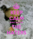KEEP CALM AND DOOK THE HATERS - Personalised Poster large