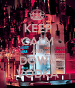 KEEP CALM AND DOWN VODKA - Personalised Poster large
