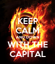 KEEP CALM AND DOWN WITH THE CAPITAL - Personalised Poster large
