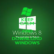 KEEP CALM AND DOWNLOAD WINDOWS - Personalised Poster large