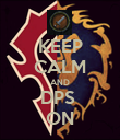KEEP CALM AND DPS  ON - Personalised Poster large