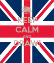 KEEP CALM AND DRAW!  - Personalised Poster large