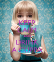 KEEP CALM AND DRINK A CUPPA - Personalised Poster large