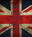 KEEP CALM AND DRINK ALMDUDLER - Personalised Poster large