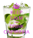 KEEP CALM AND DRINK CAIPIRINHA - Personalised Poster large
